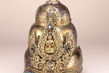 Head-dress or helmet of a Vajracarya