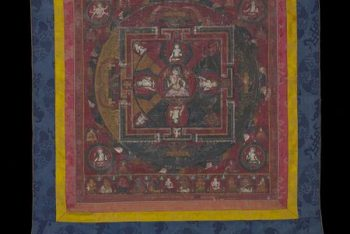 Mandal with the central figure of Vajrasattva