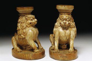 Pair of throne legs