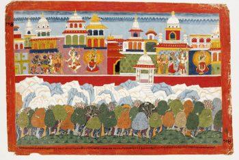 Vanasura, Shiva and Parvati