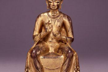 A figure of seated Maitreya