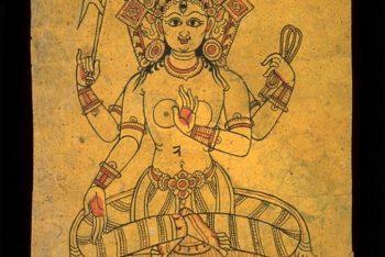 Bhuvanesvari: Page from a Newari sketchbook