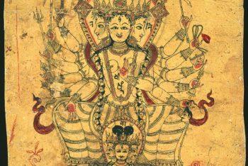 Page from a Newari sketchbook: Rajeshvari