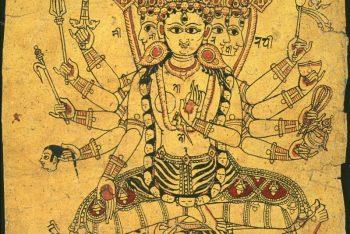 Page from a Newari sketchbook: Siddhalakshmi