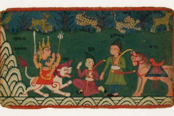 The Hindu deity Ambika