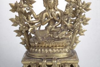 The bodhisattva Manjushri and his consort