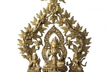 A COPPER ALLOY GROUP WITH VAJRASATTVA Nepal