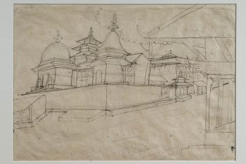 A Sketch Of Some Temples, Probably At Kathmandu