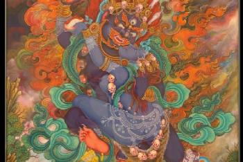 Achala (Buddhist Deity) – Chandamaharoshana (with consort)