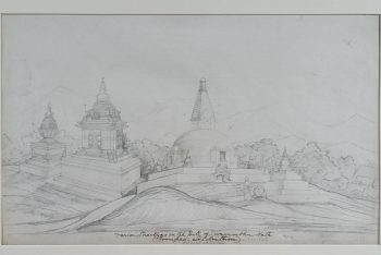 Chaityas At Svayambunath, Kathmandu