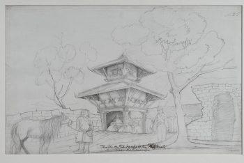 Temple On The River Vishnumati, Near Kathmandu
