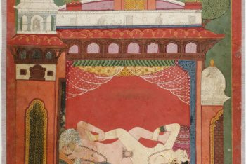 An Illustration from the Kama Sutra of Kumari and King in Coitus