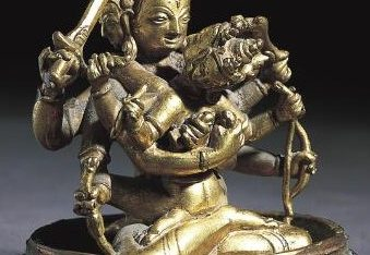 Bodhisattva Manjusri Embracing His Spouse