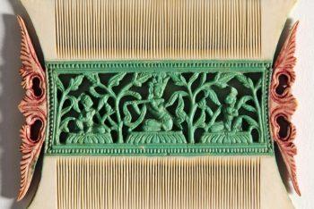 Comb Depicting Krishna Fluting