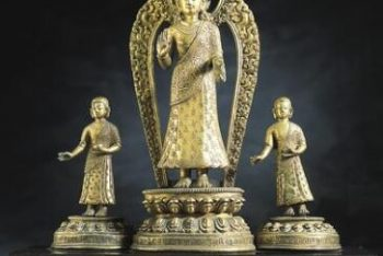 Dipankara Buddha with Two Monks
