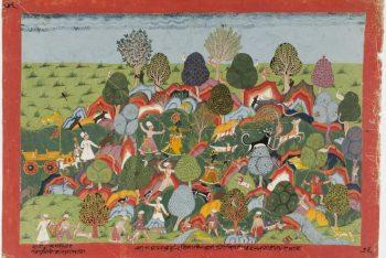 Krishna and Company Hunt in the Jungle