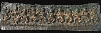 Plaque with Dancing Deities and Donors