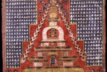 Stupa (Buddhist Reliquary)-Painting