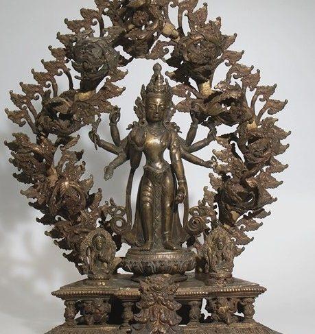 Figure With Shrine