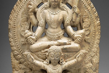 God Vishnu Riding His Mount, Garuda