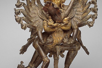 Tantric Deities Hevajra and Nairatmya in Ritual Embrace (yab-yum)