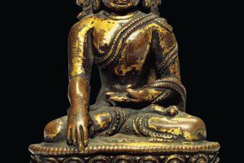 A Gilt Bronze Figure of Amitabha