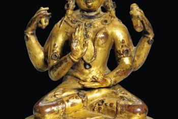 A Gilt Bronze Figure of a Female Bodhisattva