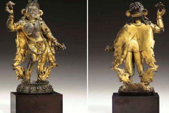A Rare Gilt Bronze Figure of Garuda