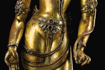 A gilt bronze figure of Padmapani