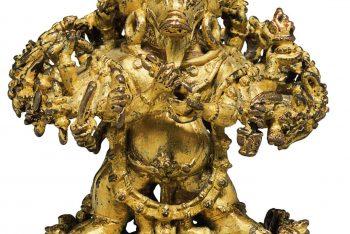 A gilt bronze figure of Vajrabhairava