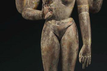 A polychromed wood figure of Tara