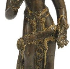 A rare Gilt copper figure of Padmapani