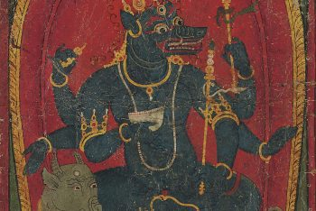 A small painting of Varahi