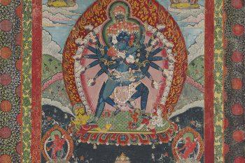 A thangka of Shri Hevajra and Vajra Nairatmya