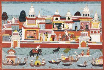 AN ILLUSTRATION FROM THE BHAGAVATA PURANA