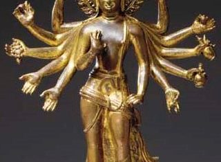 An Important Gilt Bronze Figure of Amoghapasa