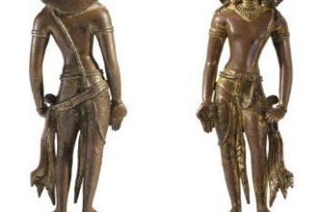 An Important gilt copper figure of Avalokiteshvara