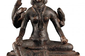 An early and rare bronze figure of Vasudhara
