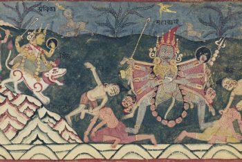 Illustration from a Devi Mahatmya series