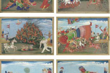 Six illustrations to the Mahabharata