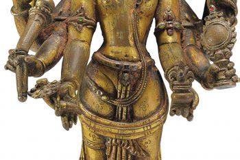 A Gilt Bronze Figure Of Vasudeva-Kamalaja