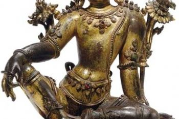 A Gilt Bronze figure of Indra