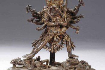A Nepalese bronze figure of Samvara and consort