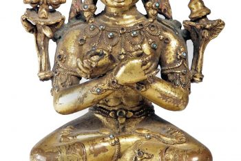 A Nepalese gilt-copper figure of Vajradhara
