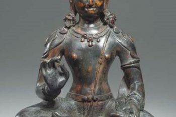 A Rare Bronze Figure of Indra