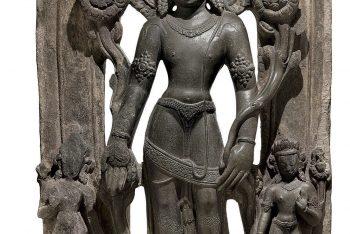 A black stone stele of Padmapani