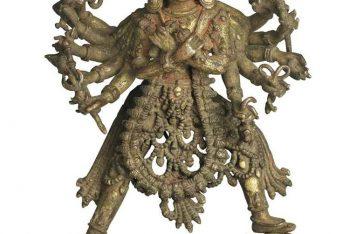 A gilt bronze figure of Chakrasamvara