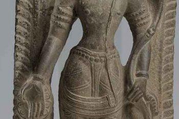 A stone figure of Avalokiteshvara