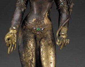 An Important Gilt Bronze Figure of Tara