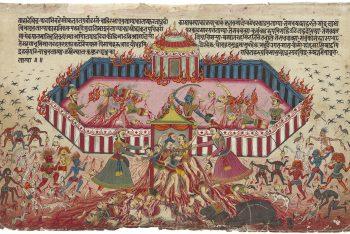 An illustration from the Mahabharata